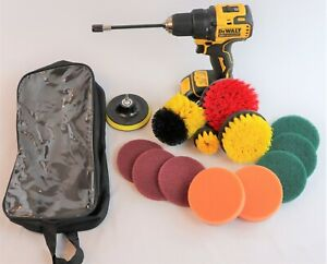Ultimate 14 Piece Drill Scrub Brush Multi-Purpose Deep Cleaning Kit