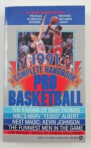 1991 Complete Handbook of Pro NBA Basketball Jordan Cover Zander Hollander Book