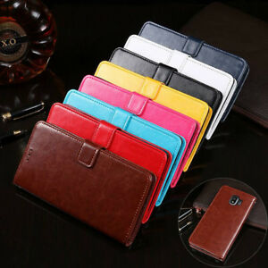For Samsung Galaxy A5 A8 Wallet Leather Case Shockproof Magnetic Flip Card Cover