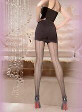 Collant velati con RIGA calze con riga intimo donna lingerie 20 DEN