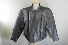 CLASSIC BLACK LEATHER BIKER JACKET 54-56 INCH