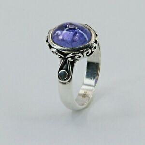 Size 7 - Blazing Blue Oval KYANITE Ring - 925 STERLING SILVER #4