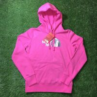 The North Face Women's Hoodie Half Dome Pullover Sweatshirt Pink Size Small AAZX