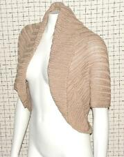 BEBE~MOCHA TAUPE~SHIMMER~OPEN FRONT~DRAPERY~KNIT SLOUCHY CARDIGAN SWEATER TOP~M