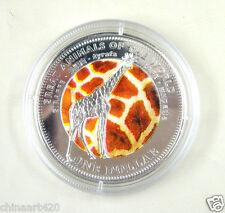 Fiji Coin 1 Dollar 2009 UNC, Great animals of the World - Giraffe