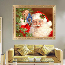 5D DIY Diamond Painting Father Christmas Embroidery Cross Stitch Home Wall Decor