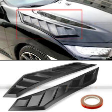 For SC2 Pair Flexible JDM Decor Long Ver Hood Bonnet Vent Cover Flat Black