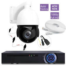 4CH 4K NVR 20X Zoom Auto Tracking Full HD 1080P 2MP POE PTZ IP Camera SONY CMOS