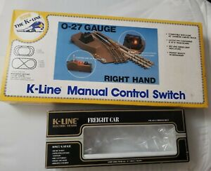 empty boxes for K-Line 027 guage train manual control switch & freight car