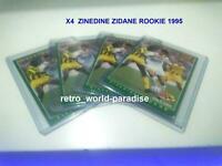 PANINI ZINEDINE ZIDANE ROOKIE PSA ? X4 football CARDS 1995  BORDEAUX CARTE  #225