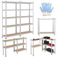 2 x Etagère de Rangement Rayonnage Stockage Garage Cuisine Atelier 180x90x30cm