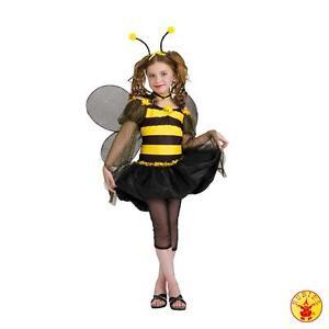 Kostüm BIENE BIENCHEN Bienenkostüm m. Flügel Gr. 32/34 od. 164/170/176