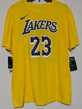 Nike Dri-fit Lebron James Los Angeles Lakers Hombre Camiseta Grande.