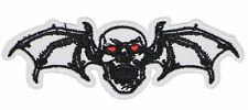 skull spider bat patch embroidered wings applique biker skull patch (SSW-553)