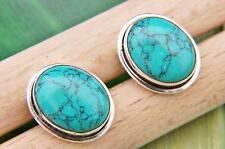 Ohrstecker Ohrringe Silber 925 Sterlingsilber Türkis blau grün Stein