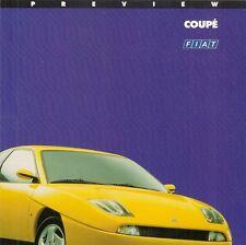 Fiat Coupe 1994-95 UK Market Preview Foldout Sales Brochure 16v & Turbo