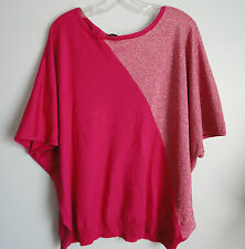 New Grace Elements Women's Pink Metallic Dolman Sleeve Tunic Top Size 3X