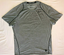 Men's Nike Pro Short Sleeve Fitted Shirt Grey Xl