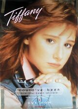 RARE TIFFANY COULD'VE  BEEN 1987 VINTAGE ORIG MUSIC RECORD STORE PROMO POSTER