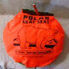 Vintage Kolpin Polar Heat Seat, Orange and Camo For Hunting, Camping or Fishing