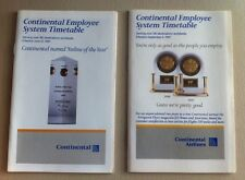 Lot Of 2 Continental Airlines Employee System Timetables June 12 & Sept 4, 1997