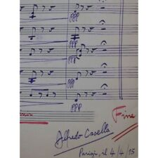 CASELLA Alfredo Nymphs and Shepherds Purcell Manuscrit Orchestre 1915 partition