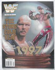 WWF / WWE  MAGAZINE / JANUARY 1997 / STONE COLD STEVE AUSTIN / SUNNY POSTER