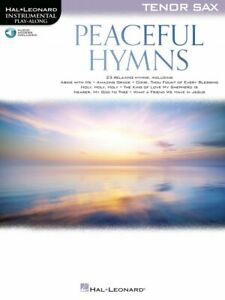 Peaceful Hymns for Tenor Sax Sheet Music Play-Along Book and Audio 000366477