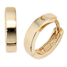 Damen Creolen rund 333 Gold Gelbgold Ohrringe Goldohrringe Goldcreolen