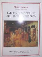 1987 Catálogo De Venta Drouot Pizarras Moderno Art Nuevo Art Deco