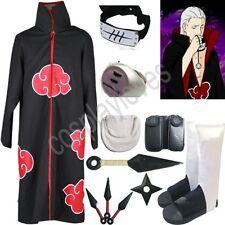 Naruto Akatsuki cloak Hidan Cosplay Costume set Anime
