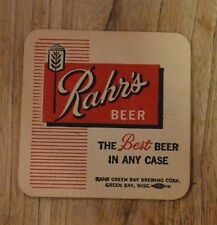 Rahr Green Bay Brewing Co. WI. Rahr's Beer Coaster  The Best Beer in any Case