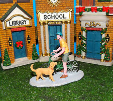 BICYCLE RIDE FIGURINE WITH DOG 1:24 (G) SCALE DIORAMA