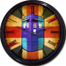 Doctor Who Tardis Clock Whovian Police Box Union Jack Time Travel London UK New