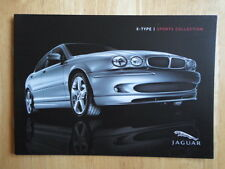 JAGUAR X Type Sports Collection 2005 UK Market Sales Brochure