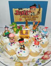 Disney Jake and the Never Land Pirates Cake Toppers Set of 9 fun Figures!