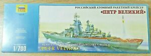 Zvezda Russian Nuclear Powered Missile Cruiser Petr Velikiy 9017 Model Kit 1/700