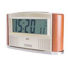 Sprechender Funk Wecker Thermo mit Funk Außenthermometer, Funkuhr ditigal NEU
