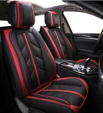 Paire Housses Couvre Sièges Avant Cuir Eco Noir Rouge Pour Opel Fiat Skoda