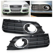 Front Left + Right Bumper Fog Light Lamp Cover Grille Grill for 08-12 Audi A4 B8