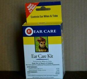 EAR CARE R-7 EAR CARE KIT CONTROLS EAR MITES & TICKS ( 2 BOTTLES OF 2 OZ EACH ON