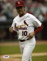 Tony Larussa Signed 8x10 Photo Psa/dna Authentic Autograph