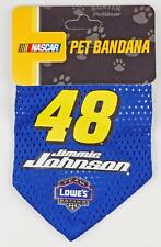 Jimmie Johnson #48 NASCAR Dog Pet Bandana Blue by Hunter PetGear - Small