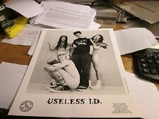 Useless I.D. Promotion Photo Vintage 90'S Promo Shot 8 X 10 Collectable