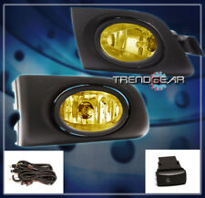 2001 2002 2003 HONDA CIVIC EX GX COUPE SEDAN JDM BUMPER YELLOW FOG LIGHT+HARNESS