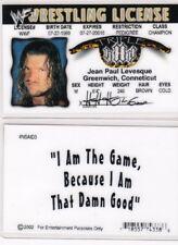 WF Wrestling License Triple H  wwf Drivers License FAKE ID driver's card wcw HHH
