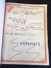 Rare 1922 US IRS Duplicate Order Form Booklet Cocaine Opium Spartanburg SC