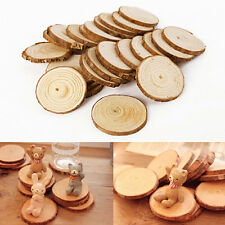25 pcs Wood Log Slices Discs for Crafts Wedding Hobbies Centerpieces
