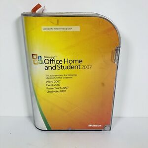 Microsoft MS Office 2007 Home and Student Licesned for 3 PCs Full Retail Box