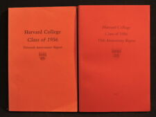 HARVARD COLLEGE CLASS OF 1956 30TH AND 55TH ANNIVERSARY REPORT LOT OF 2 BOOKS
